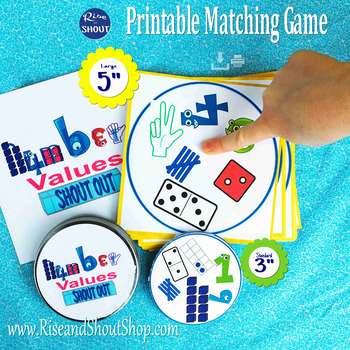 """Numbers Value Matching Game Shout Out; 31, 3"""" & 5"""" card; m"""