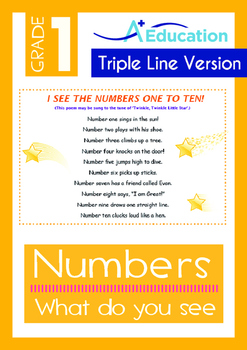 Numbers - What do you see? (I) - Grade 1 (with 'Triple-Tra
