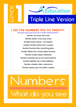 Numbers - What do you see? (II) - Grade 1 (with 'Triple-Tr