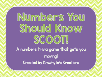 Numbers You Should Know SCOOT!