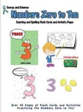 Numbers Zero to Ten: Count and Spell Flash Cards/Activity Pages