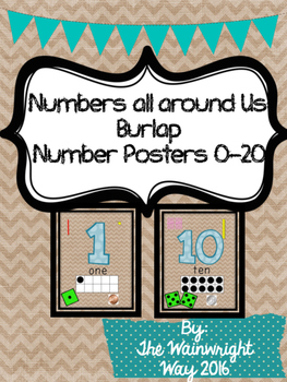 Numbers all around us: Burlap Number Posters