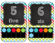 Numbers and Colors {Chevron and Chalkboard}