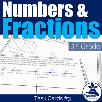 Fractions & Place Value Task Cards #3