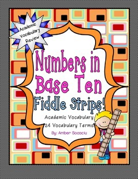 Numbers and Operations in Base Ten Academic Vocabulary Fid