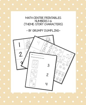 Numbers and Quantities (1-6) - A Game and a Worksheet with