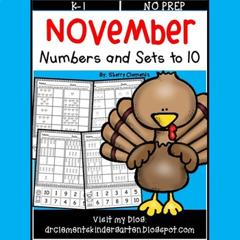 November Numbers and Sets to 10