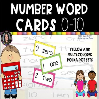 Number Word Cards to 10 ~ Chevron ~