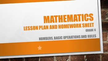 Numbers, basic operations and rules Grade 6