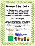 Numbers by Color: Place Value through the One Thousands