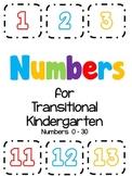 Numbers for Transitional Kindergarten