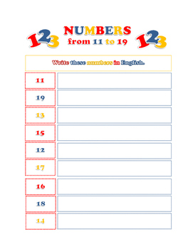 Numbers in English: Exercises with Key