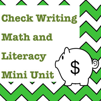 Numbers in Word Form and Check Writing Math and Literacy M