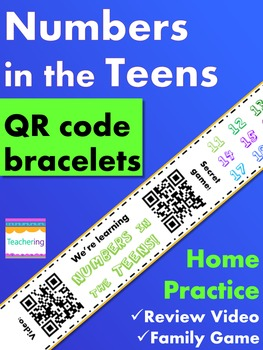 Numbers in the Teens Homework {Bracelet with review video