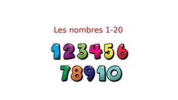 Numbers l-20 les nombres
