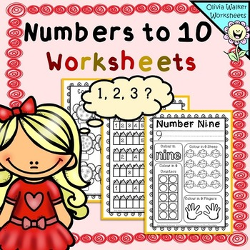 Numbers to 10 Worksheets , Numbers to Ten Printables, Coun