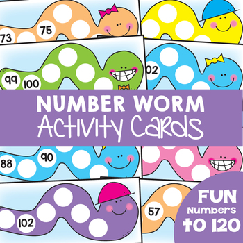 Numbers to 120 - Number Worm Activity Cards