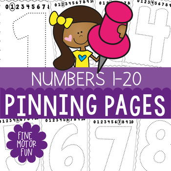 Numbers to 20 Pinning Pages - A Fine Motor Resource