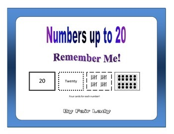 Numbers to 20 - Remember Me!