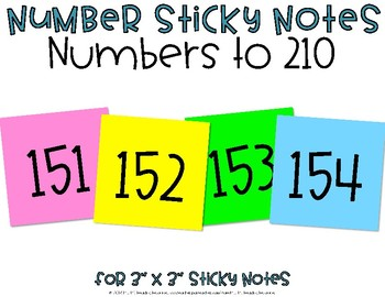 Numbers to 30 {Post-it Printable}