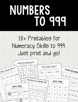 Numbers to 999 Texas TEKS and Common Core!