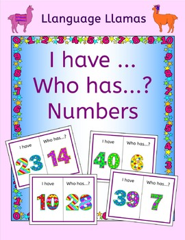 Numbers up to 50 I have ... Who has ...? Game - Free