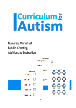 Autism & Special Education Numeracy, 100 Worksheets-Count,