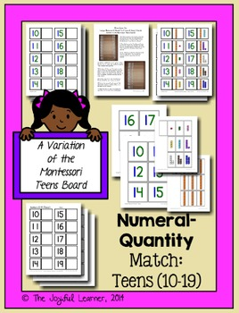 Numeral-Quantity Match: 10-19 (A Variation of the Montesso