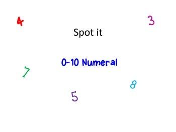 Numeral Spot It
