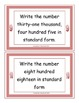 Numeration Task Cards for Place Value and Comparing Numbers