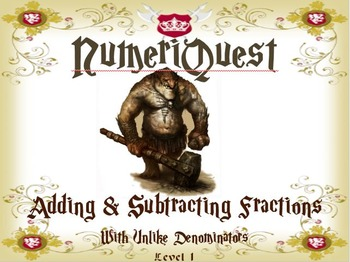 NumeriQuest Adding and Subtracting Fractions - Level 1