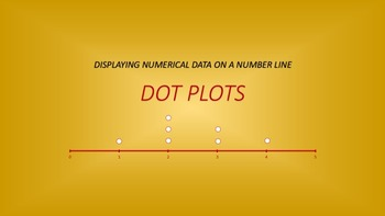 Numeric Data: Dot Plots