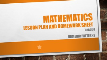Numeric Patterns Grade 6