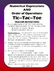 Numerical Expressions AND Order of Operations TIC-TAC-TOE