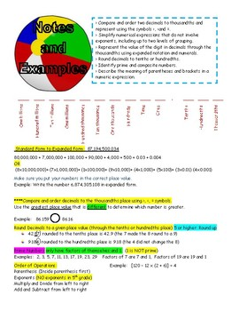 5th grade STAAR Test Review Category 1 + Data Analysis