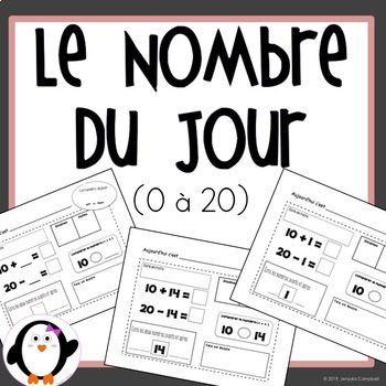 Numéro du Jour 0-20 / Number of the Day (French Product)