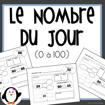 Nombre du jour 0-100 / Number of the day (French Product)