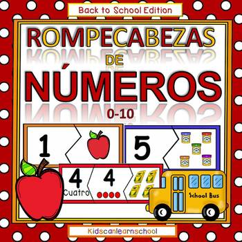 Numeros 0-10-Rompecabezas-Back to School Edition