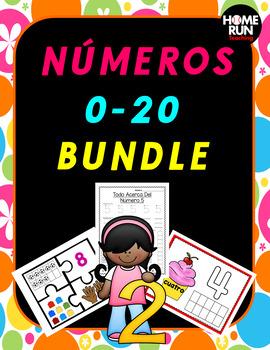 Numeros 0-20 Bundle, Spanish Numbers 0-20 Bundle, Number R