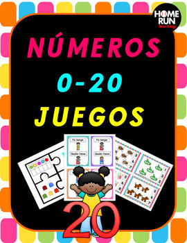Numeros 0-20 juegos, Spanish Numbers 0-20 Games, Number Re