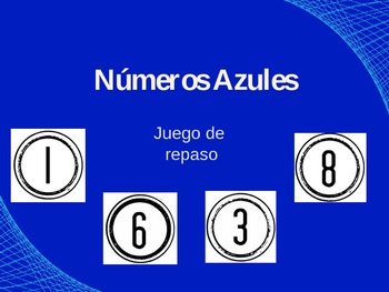 Números Azules - Review Game Template