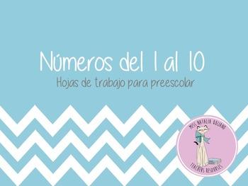 N'umeros del 1 al 10