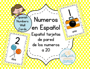Spanish Number Wall Cards to 20