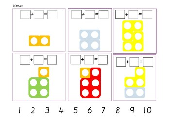 Numicon Addition Sentences