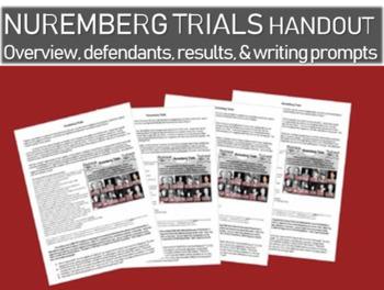 Nuremberg Trials handout: overview, defendants, results an