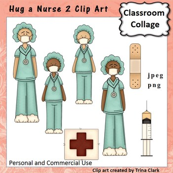 Nurse Medical 2 Clip Art - color - personal & commercial use