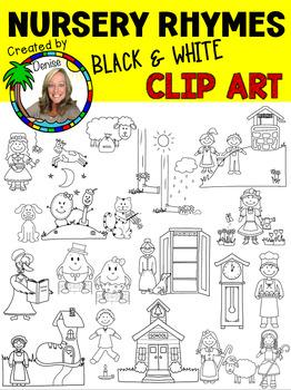 Nursery Rhyme Clip Art - Line Art