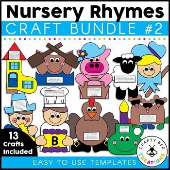 Nursery Rhyme Cut and Paste Set #2