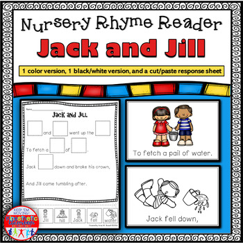 Reading Fluency Activity - Nursery Rhyme Reader: Jack and