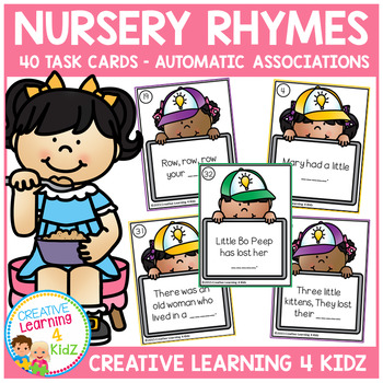 Nursery Rhyme Task Cards Automatic Associations